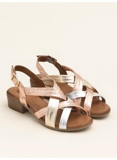 Elle Sandalet Gümüş